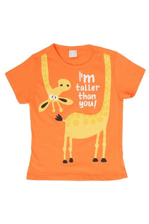 Camiseta Infantil Laranja Girafa