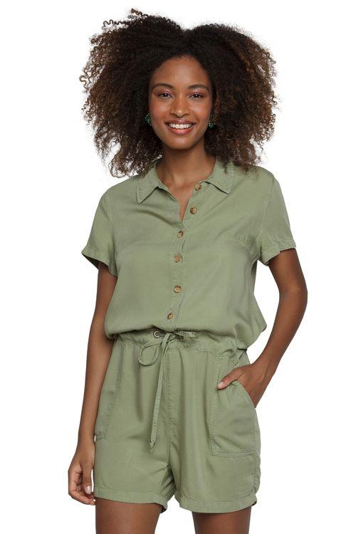 Macacão Feminino Sarja Verde