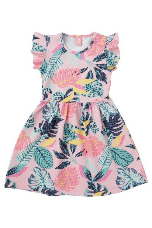 Vestido Infantil Rosa Floral