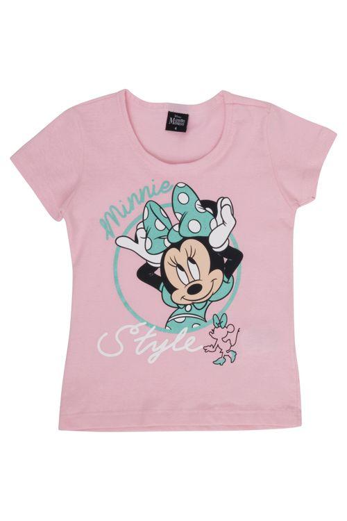 Blusa Infantil Rosa Minnie