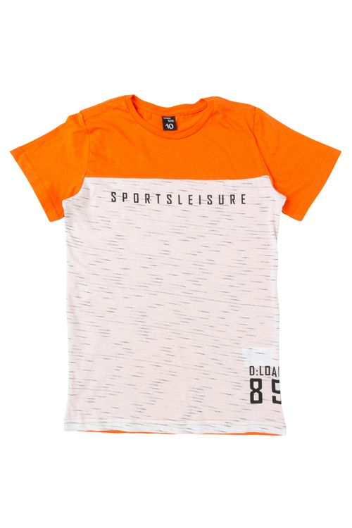 Camiseta Juvenil Laranja
