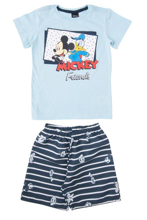 Conjunto Infantil Azul Mickey e Pato Donald