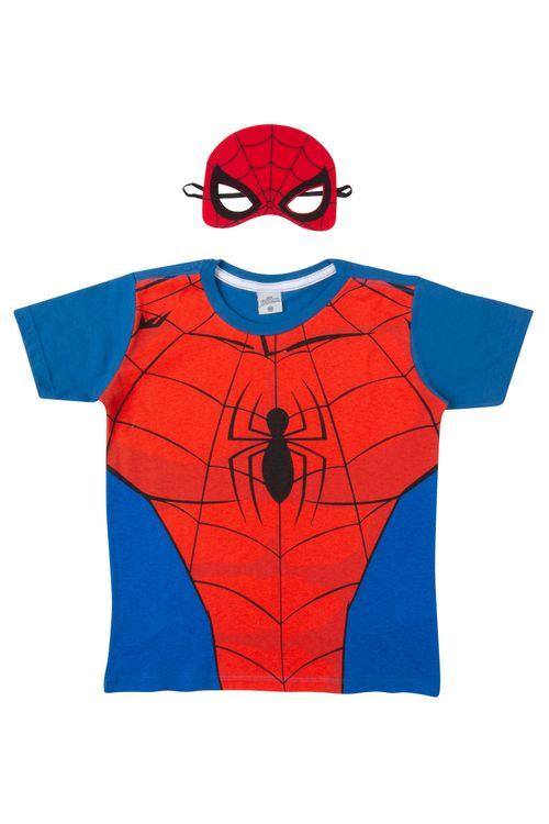 Camiseta Infantil Homem Aranha Máscara
